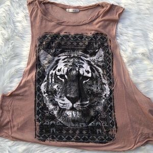 Tiger King tank top muscle thin rose gold Michelle